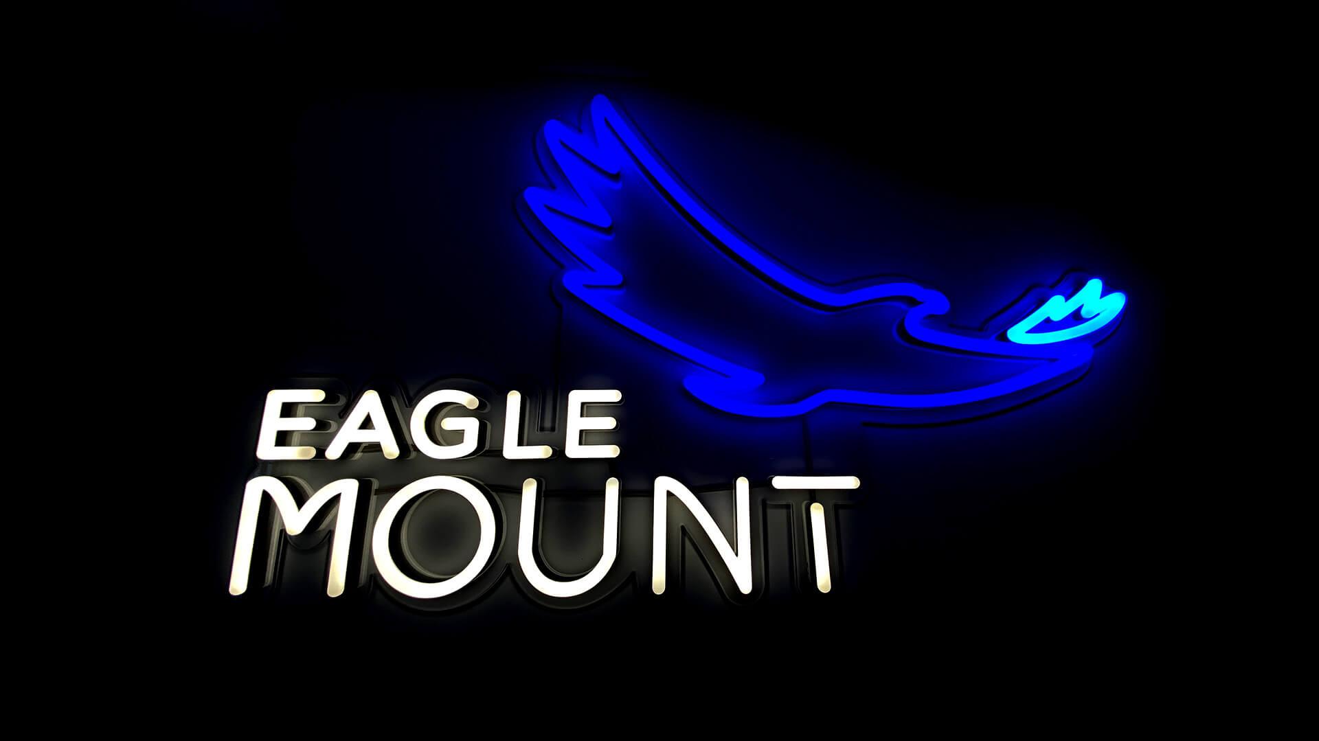 Mount Eagle Neon Logo Sign
