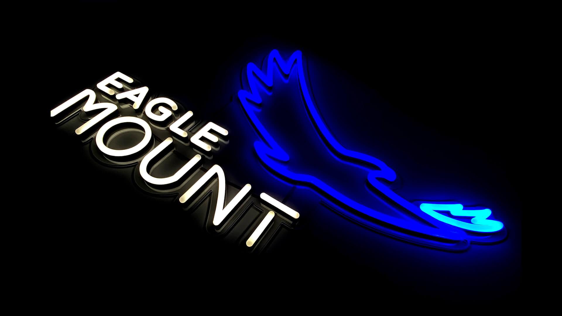 Beautiful Blue Eagle Neon Sign