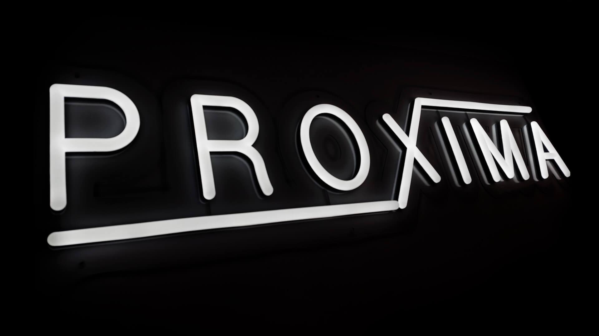 Beautiful creative shot of the custom neon sign