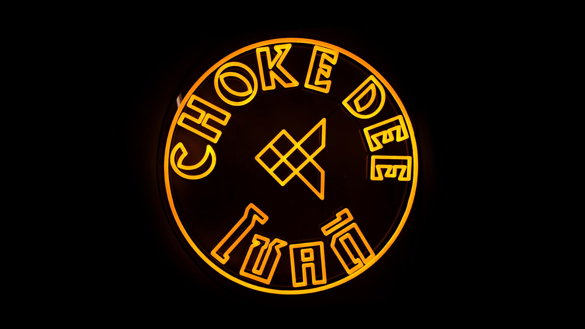 Choke Dee restaurant neon sign