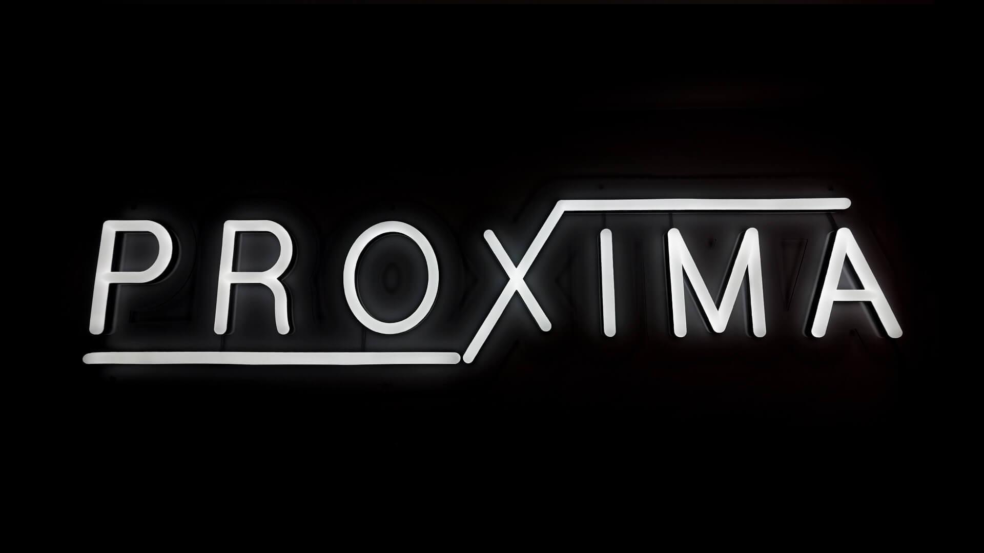 Custom logo neon sign for Proxima