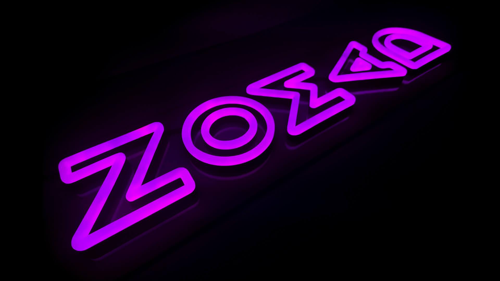 Pink RGB custom logo neon sign