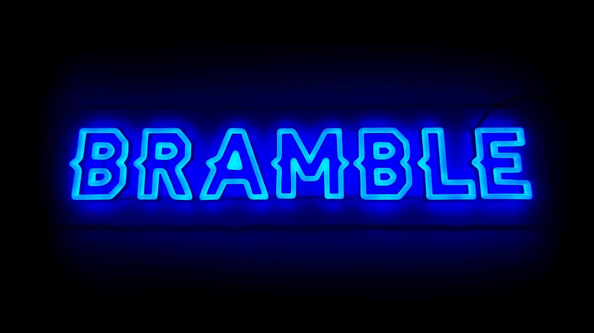 Logo Neon Sign for Bramble