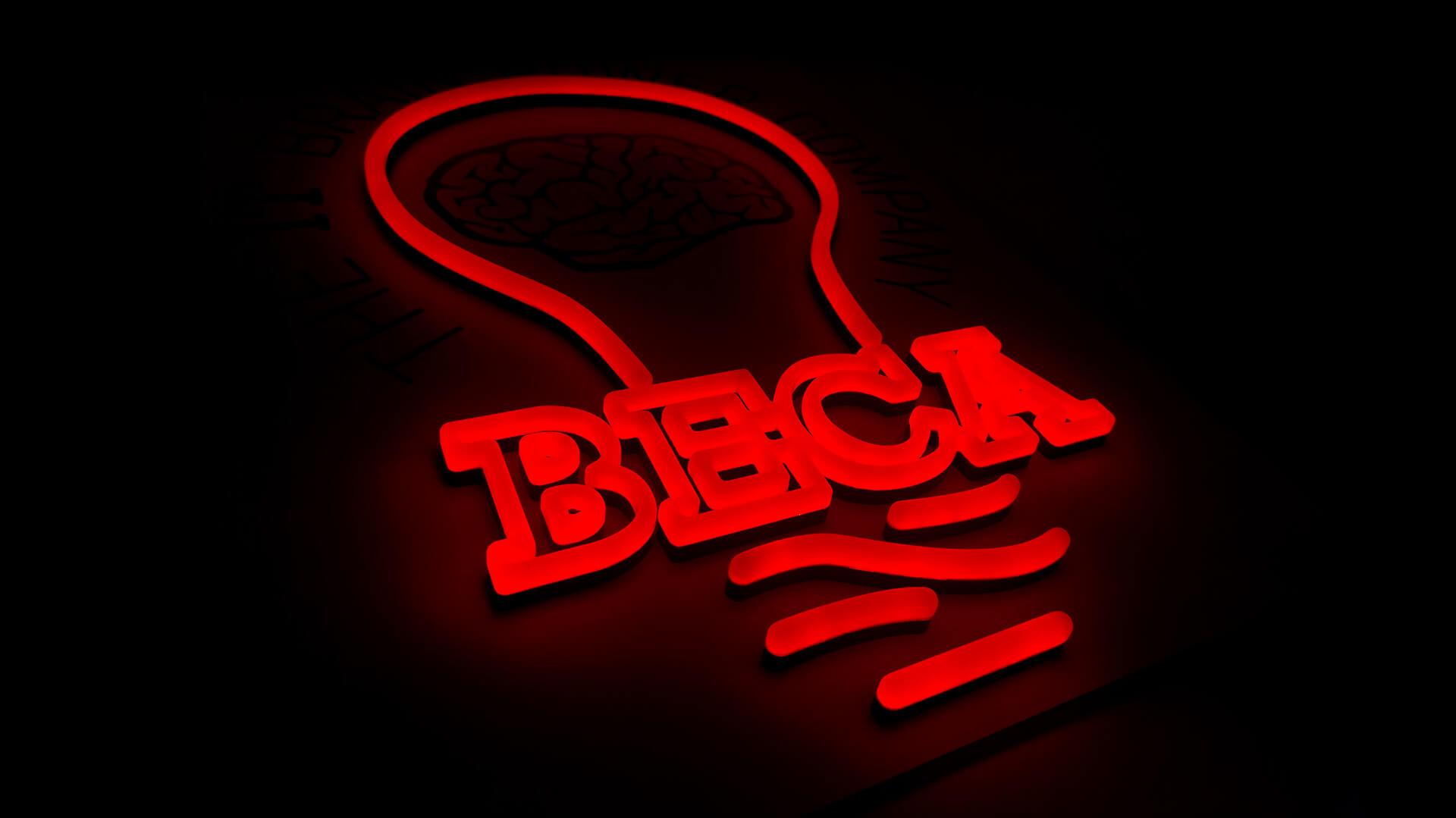 Custom Logo Neon Sign for IT Company