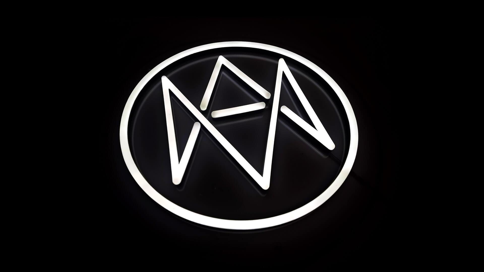 Compass logo wall lights office decor