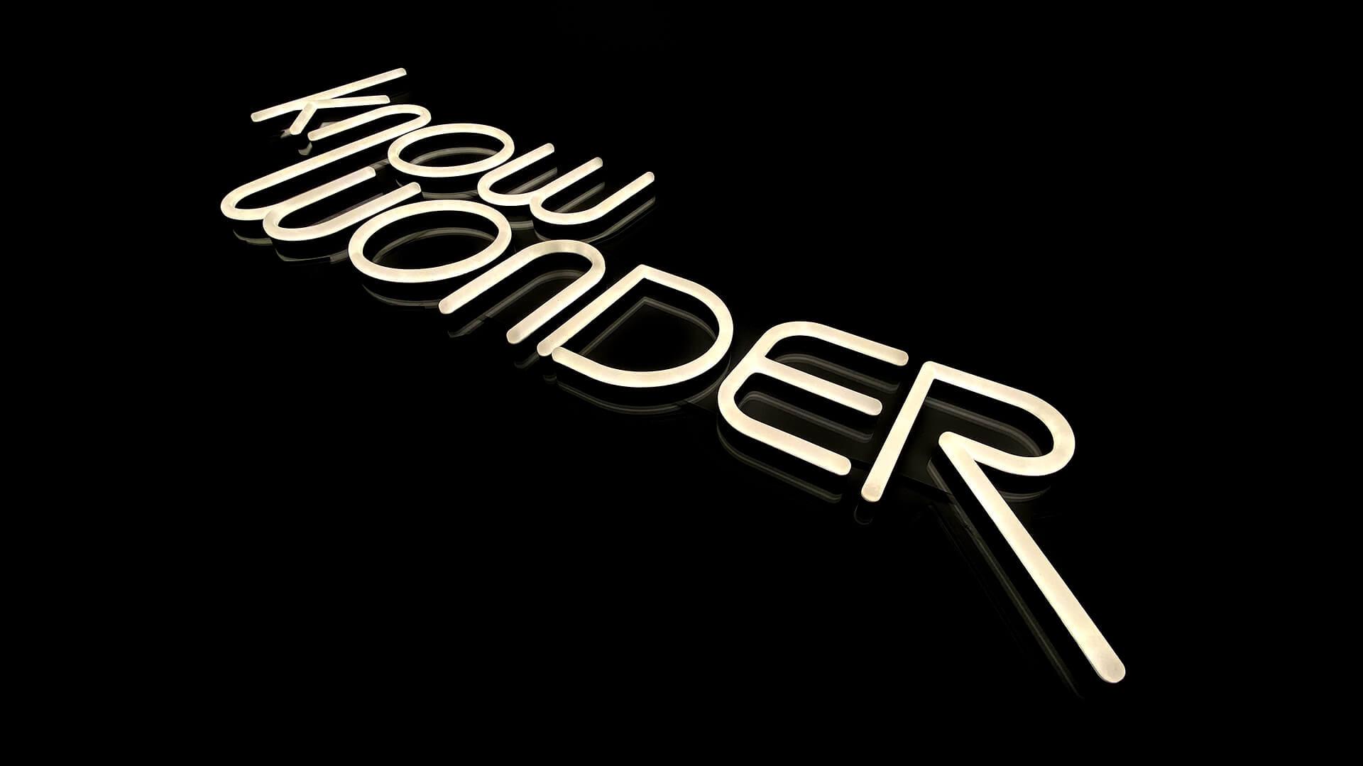 Beautiful Custom Neon Sign for Know Wonder